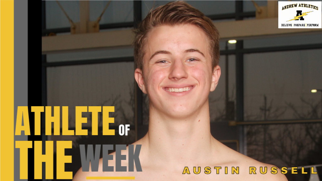 Athlete of the Week of February 17, 2020 - Austin Russell, Swim/Dive