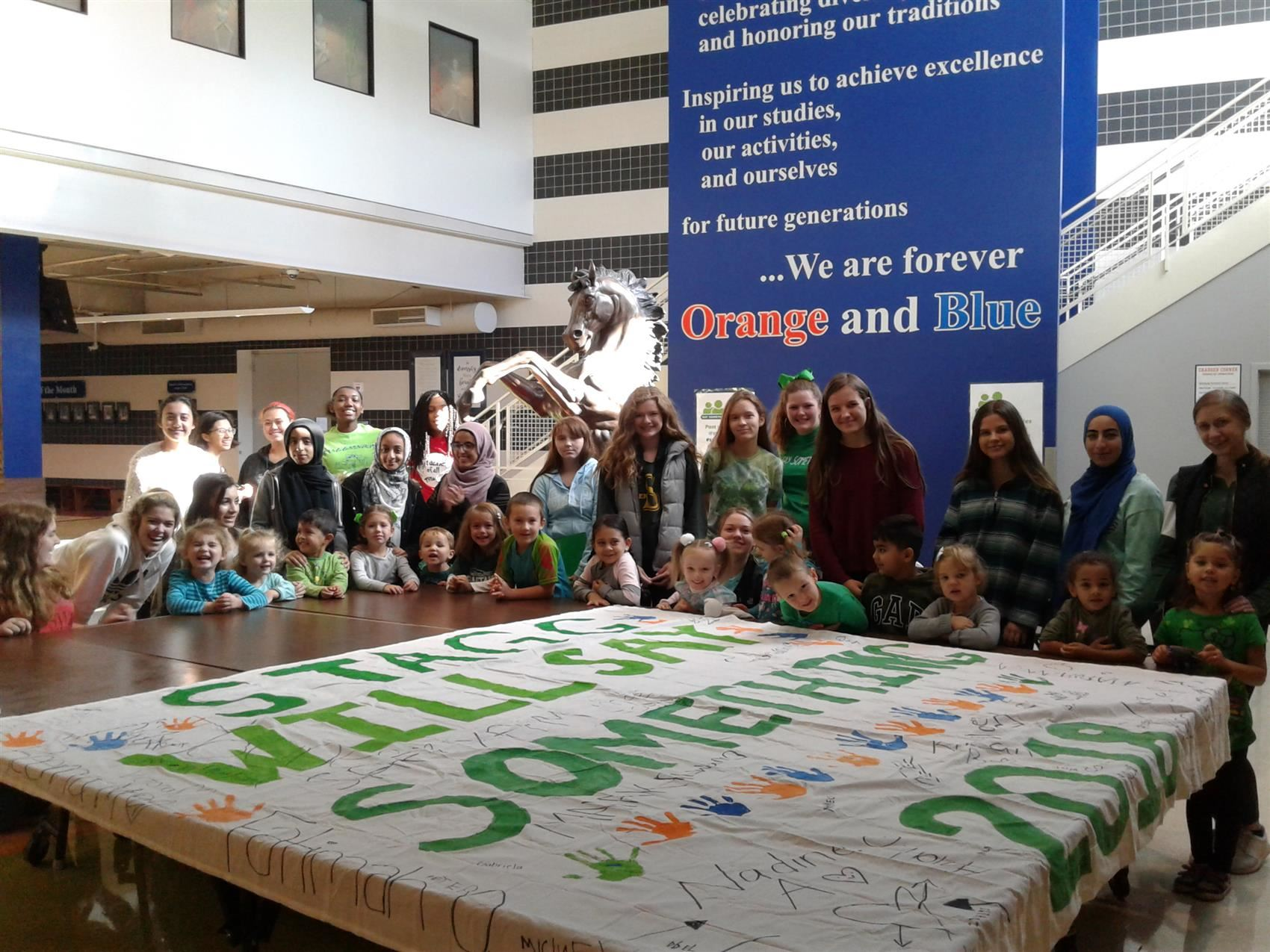 Stagg students take the Pledge to SAY SOMETHING all year long when they have a safety concern.