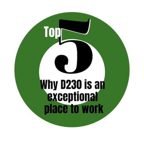 Top 5 Why D230 is exceptional place to work