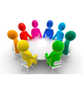 Graphic of committee members around a table