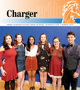Charger Pride March 2019 newsletter
